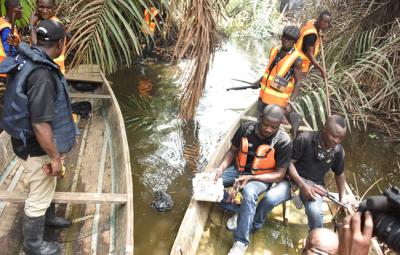 Nigerian Police Force demolish militants' stronghold in Ikorodu